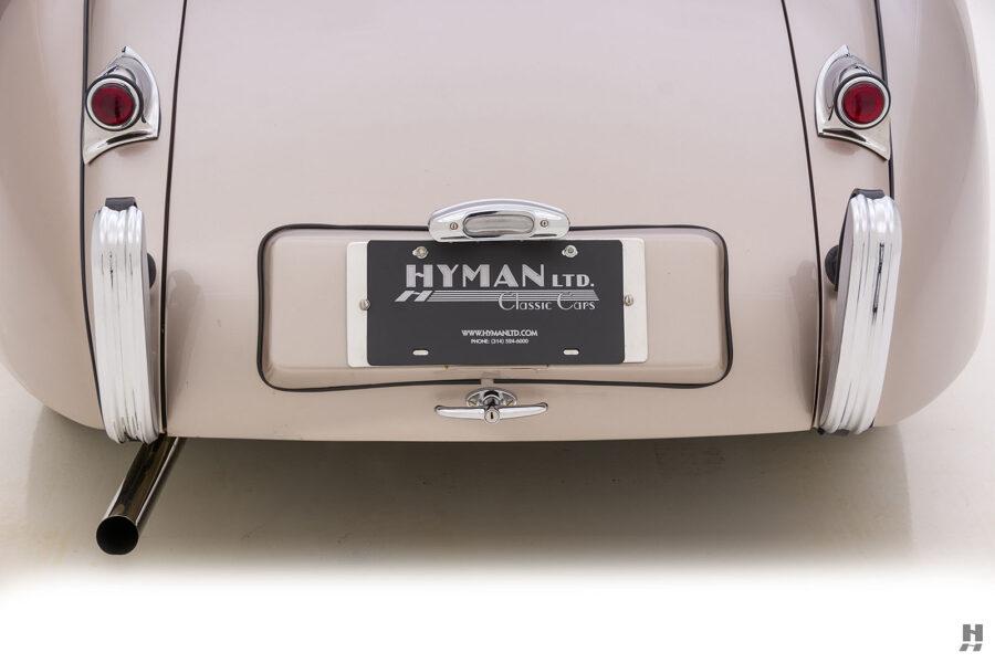 back of antique jaguar coupe for sale at hyman classic dealers