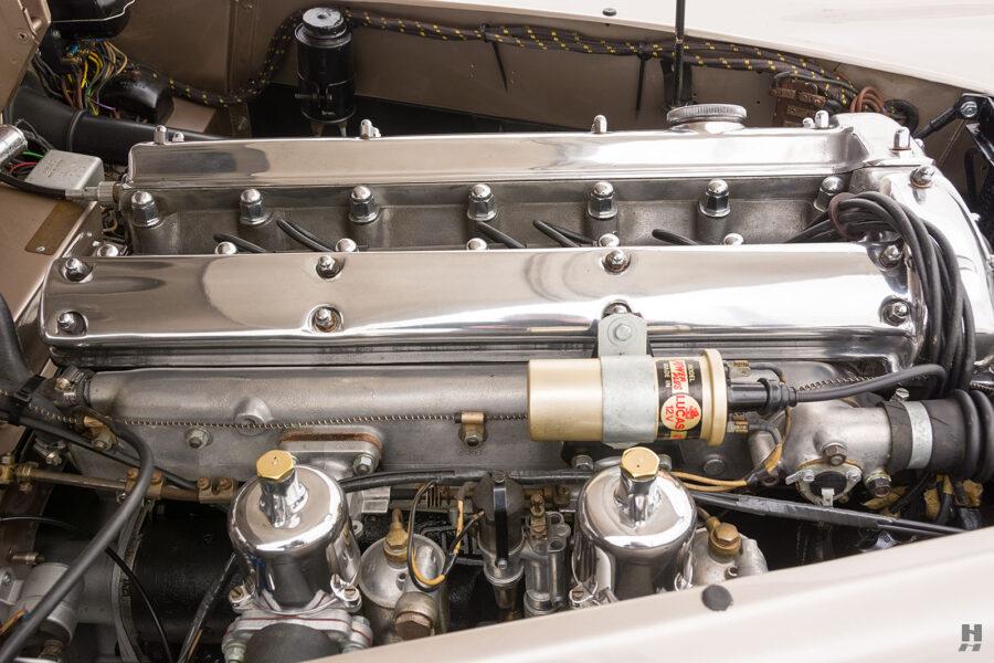 engine of antique jaguar coupe for sale at hyman classic dealers