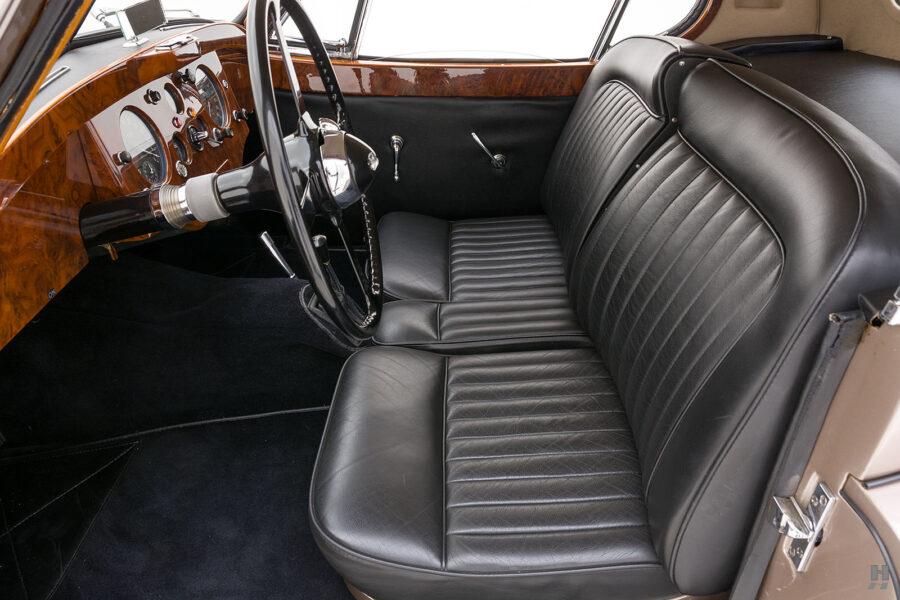 front seats of antique jaguar coupe for sale at hyman classic dealers