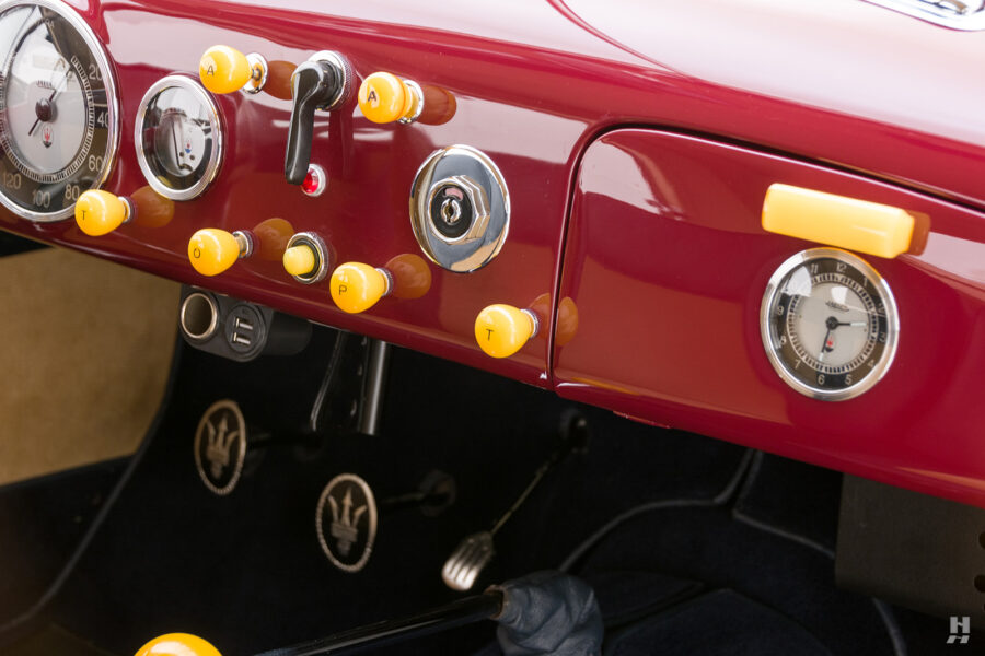 dashboard of vintage 1949 maserati coupe for sale at hyman cars