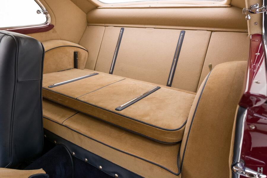 back seats of vintage 1949 maserati coupe for sale at hyman cars