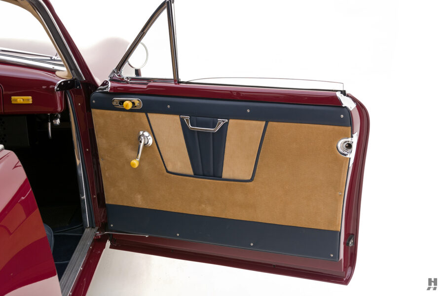 passenger's side door of vintage 1949 maserati coupe for sale at hyman cars