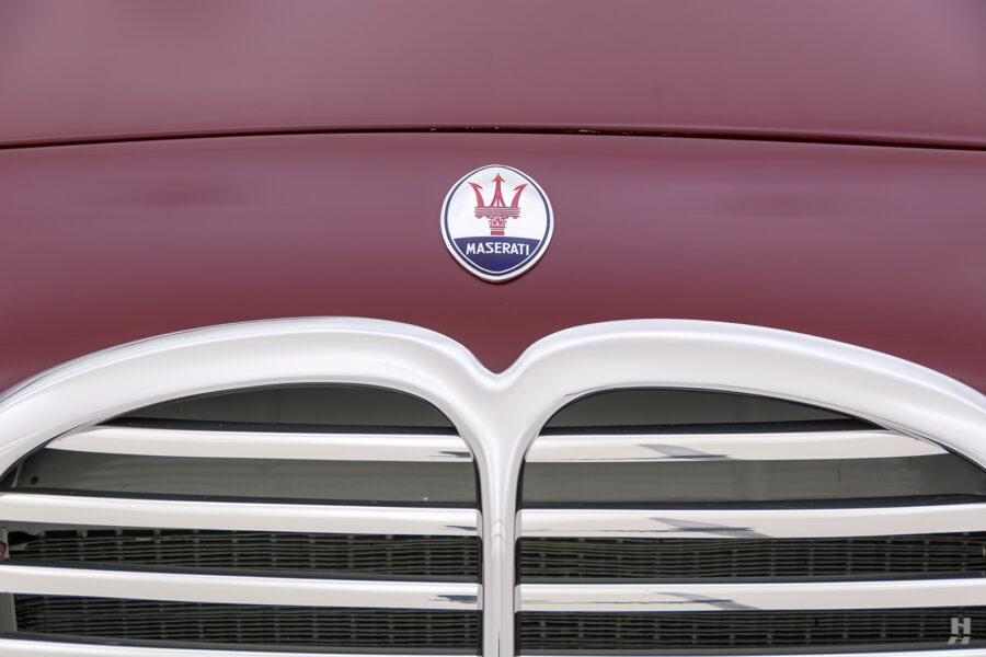logo of vintage 1949 maserati coupe for sale at hyman classic cars