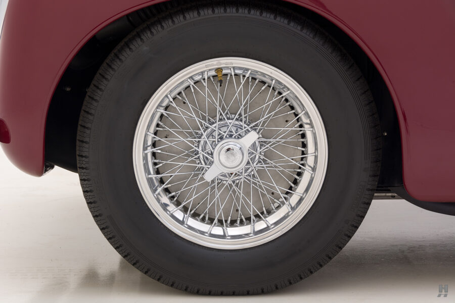 back tire of vintage 1949 maserati coupe for sale at hyman classic cars