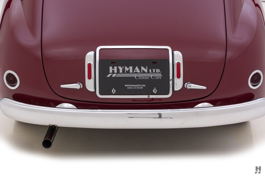 backside of vintage 1949 maserati coupe for sale at hyman classic cars