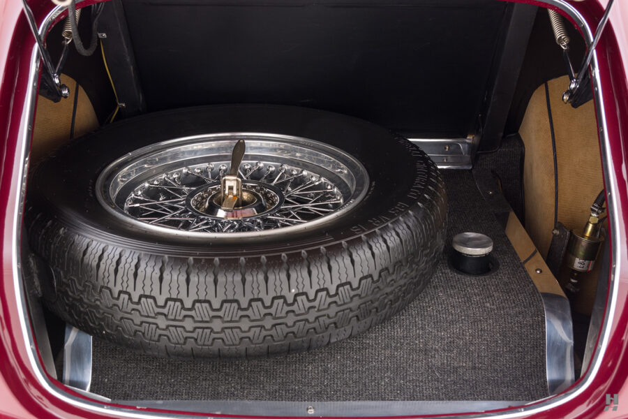 spare tire of vintage 1949 maserati coupe for sale at hyman classic cars