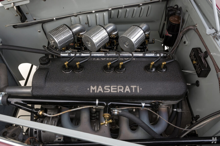 engine of vintage 1949 maserati coupe for sale at hyman classic cars
