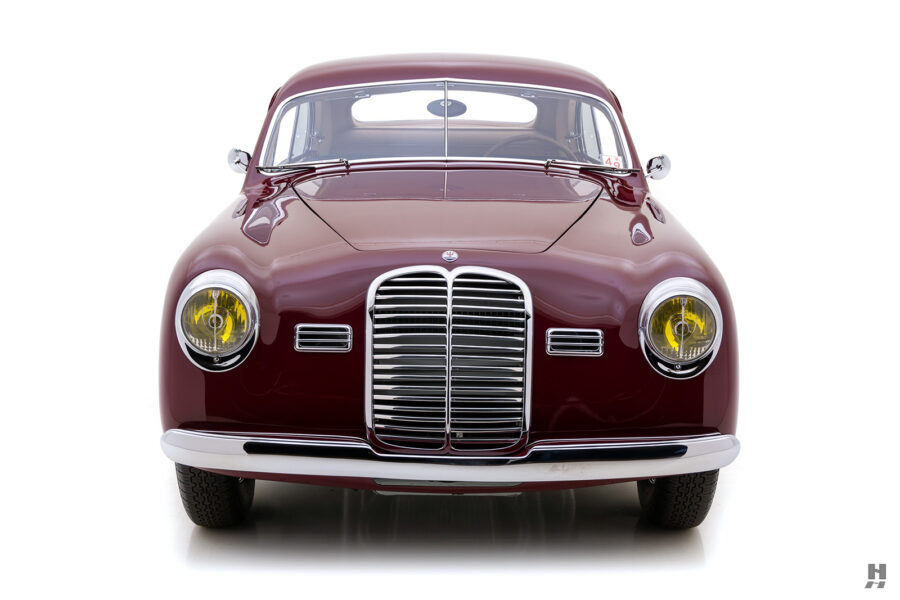 front of vintage 1949 maserati coupe for sale at hyman classic cars