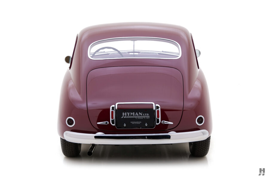 back of vintage 1949 maserati coupe for sale at hyman classic cars