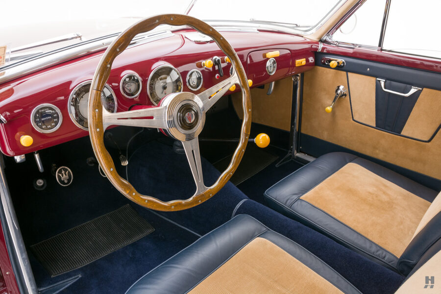 front interior of vintage 1949 maserati coupe for sale at hyman classic cars