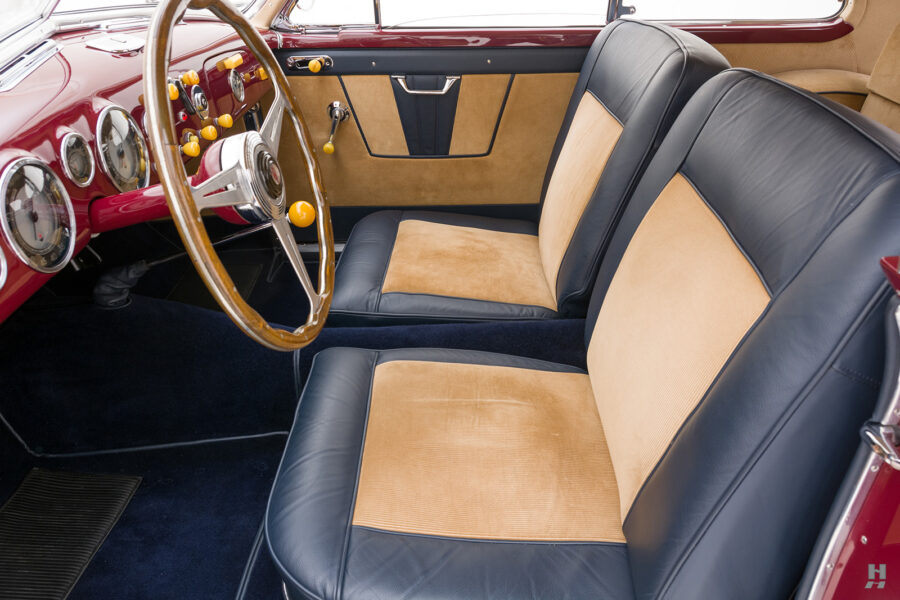 front interior side view of vintage 1949 maserati coupe for sale at hyman cars