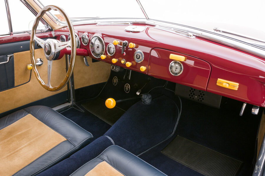 front interior of vintage 1949 maserati coupe for sale at hyman cars