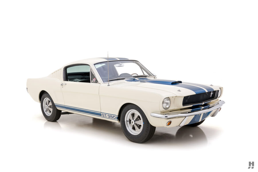 angled front view of the 1965 vintage shelby for sale online at hyman