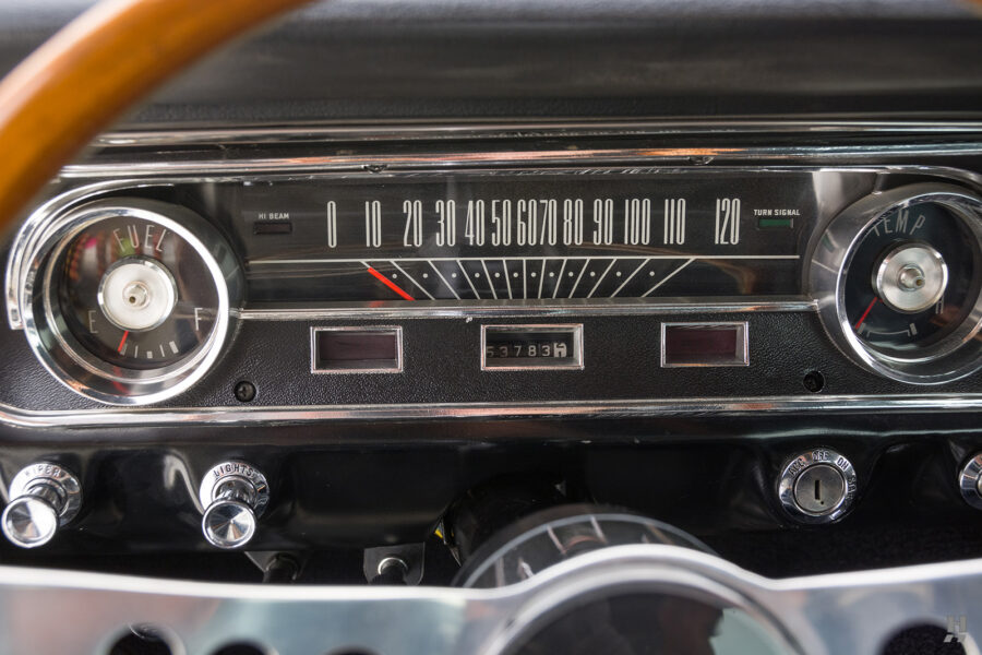 radio dial on old 1965 shelby gt350 for sale at hyman consignment dealers
