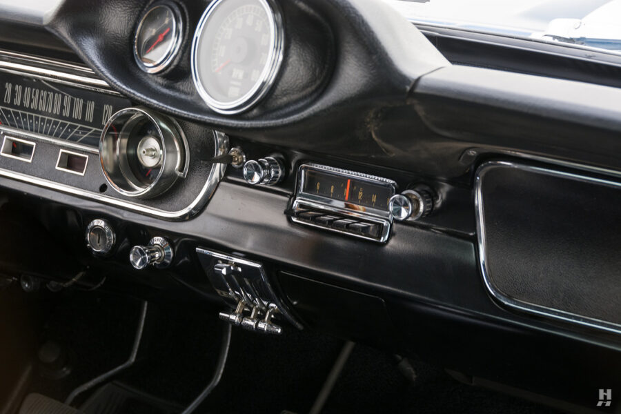 front dashboard on 1965 shelby gt350 for sale at hyman consignment dealers in the midwest