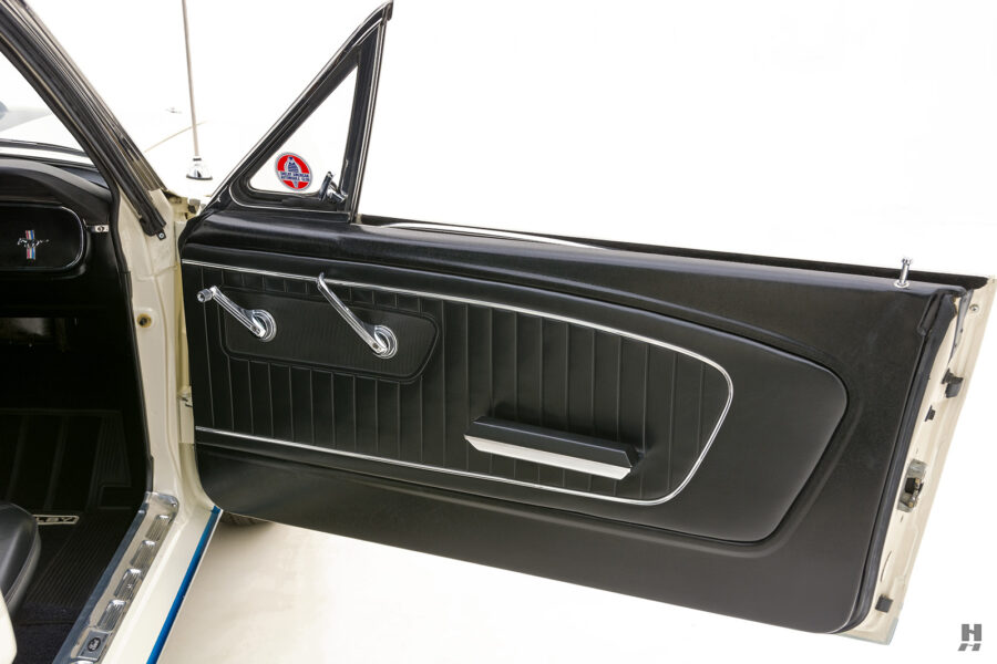 passenger's side view of vintage 1965 shelby gt350 for sale at hyman consignment dealers
