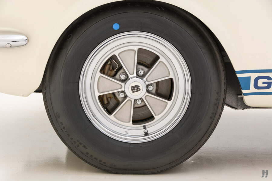 back tire of vintage shelby gt350 for sale at hyman automobile dealers in the midwest