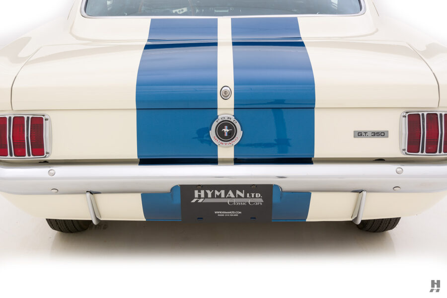 back of classic 1965 shelby car for sale at hyman automobile dealers
