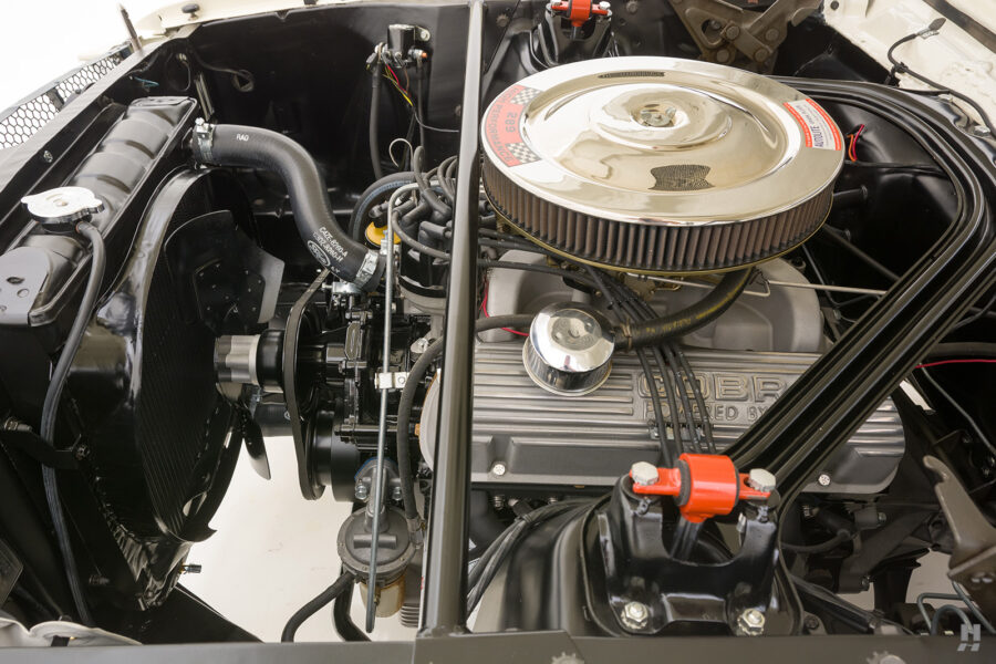 engine on classic 1965 Shelby GT350 for sale at Hyman dealers