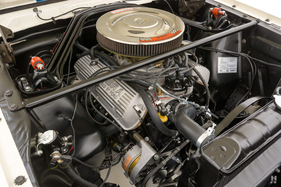 engine of old 1965 shelby gt350 car for sale at hyman consignment dealers