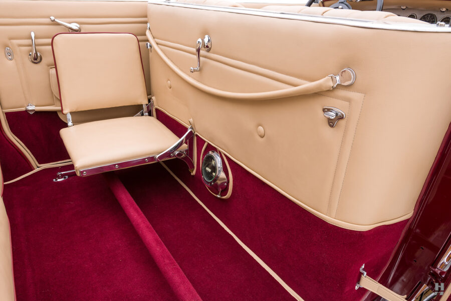 back seat in antique 1930 duesenberg for sale at hyman classic cars