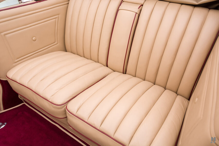 back seats in antique 1930 duesenberg for sale at hyman classic cars