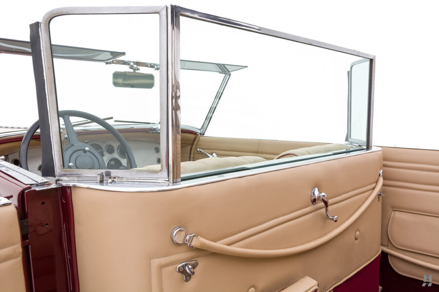 window divider in antique 1930 duesenberg for sale at hyman classic cars