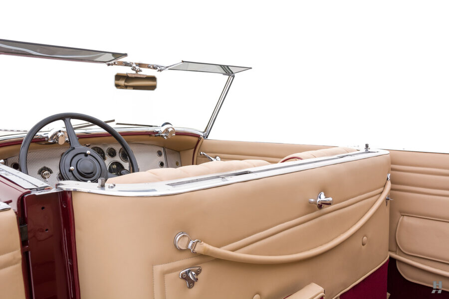 interior of antique 1930 duesenberg for sale at hyman classic cars