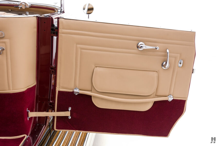 rear door of antique 1930 duesenberg for sale at hyman classic cars