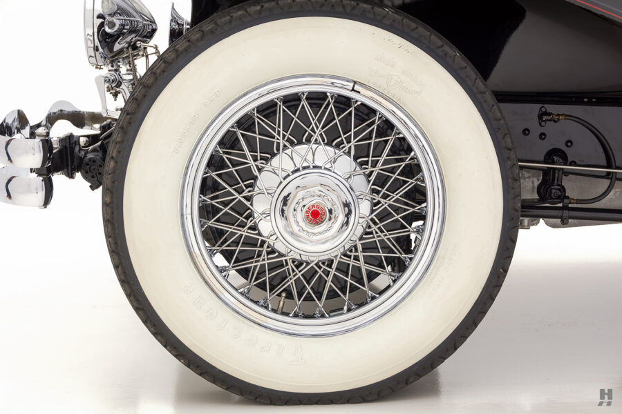 back tire of antique 1930 duesenberg for sale at hyman classic cars
