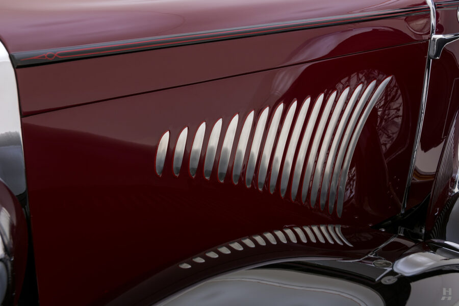 side of antique 1930 duesenberg for sale at hyman classic cars