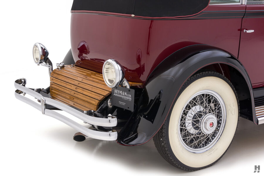 angled back of antique 1930 duesenberg for sale at hyman classic cars