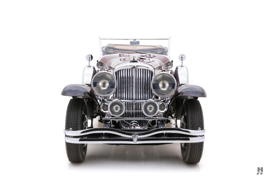 front of antique 1930 duesenberg for sale at hyman classic cars