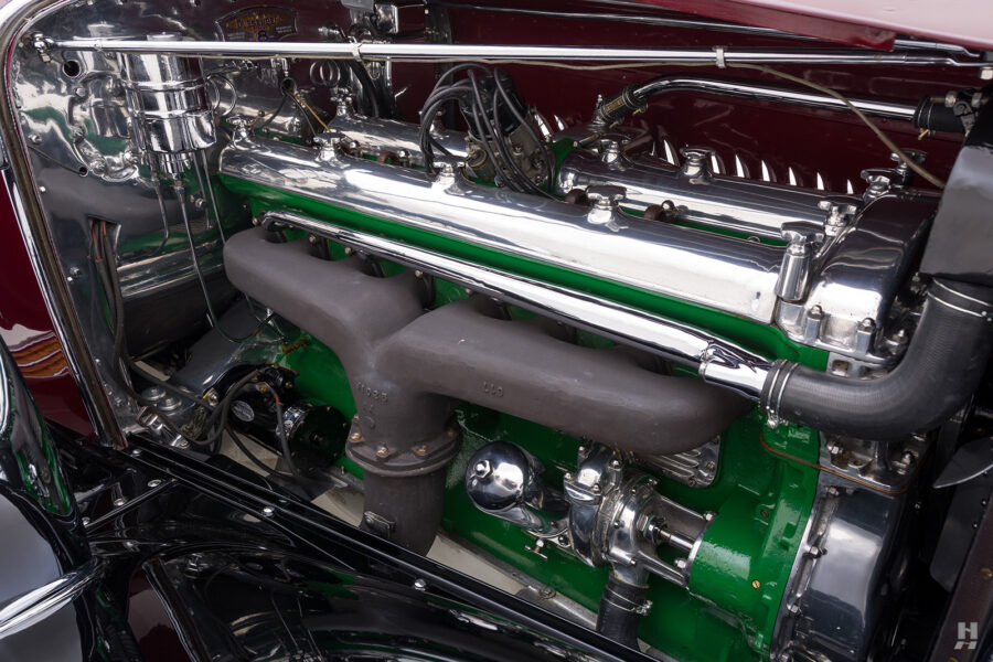 engine of antique 1930 duesenberg for sale at hyman classic cars