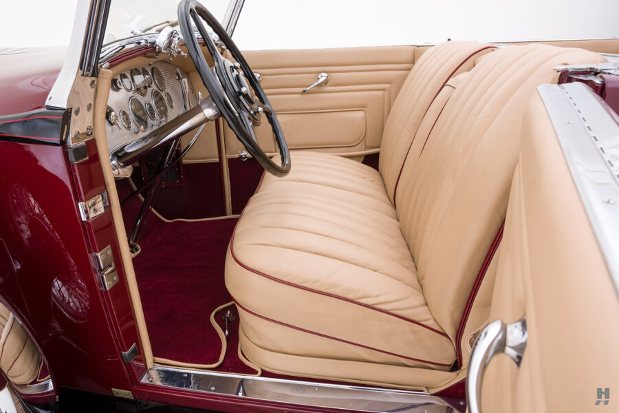 front interior in antique 1930 duesenberg for sale at hyman classic cars